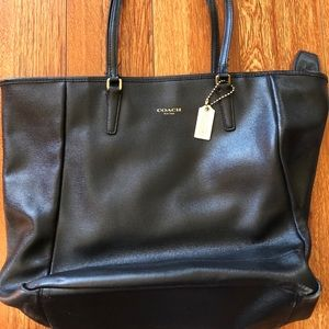 Coach large black tote.